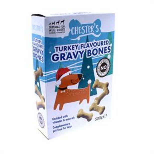 Chester's Turkey Flavoured Gravy Bones (Case of 5) offer at £4.45