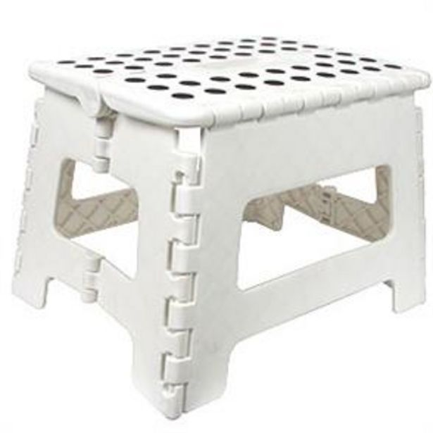 Equip DIY Folding Stool: White offer at £3.99