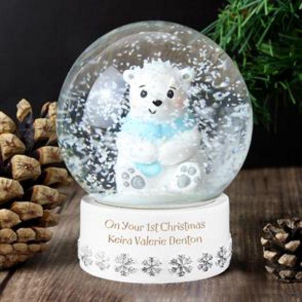 Personalised Polar Bear Snow Globe offer at £8.99