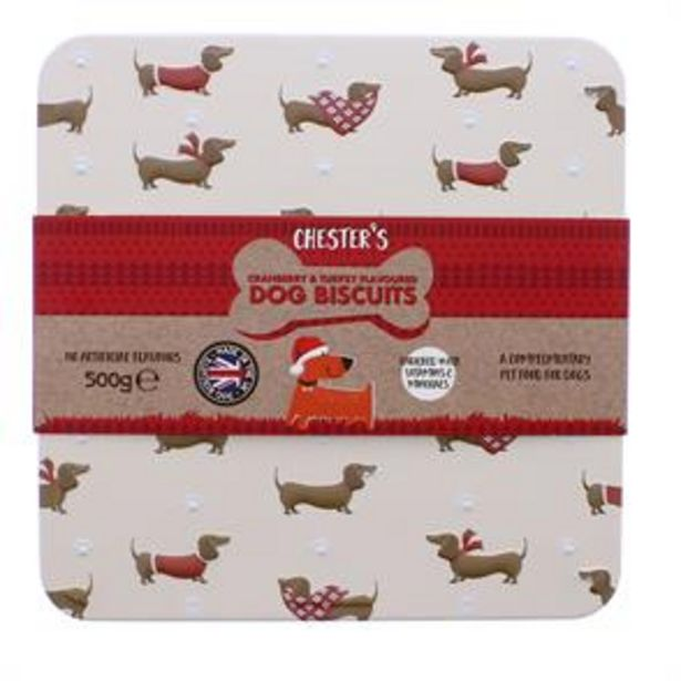 Chesters Dog Biscuit Tin 500g offer at £2.99