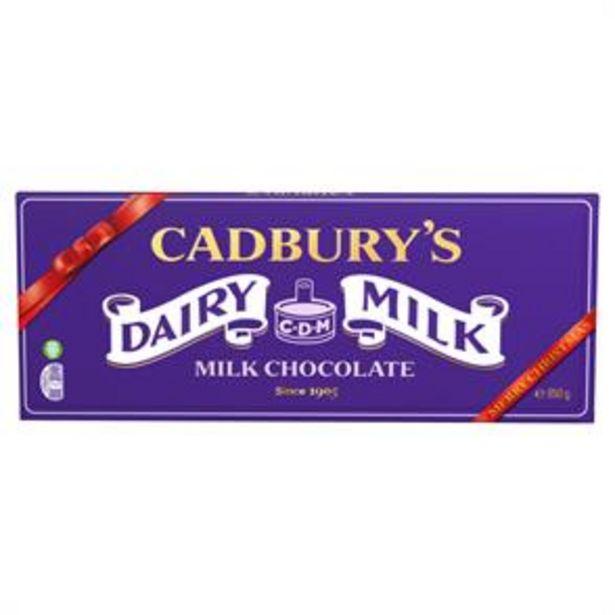 Cadbury: Dairy Milk Chocolate X-Mas Bar 850g offer at £7.99