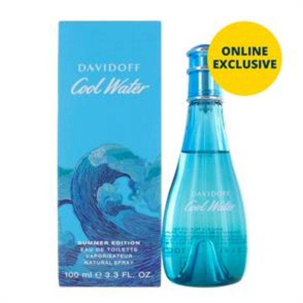 Davidoff Cool Water Summer Edition 100ml EDT Spray offer at £17.99