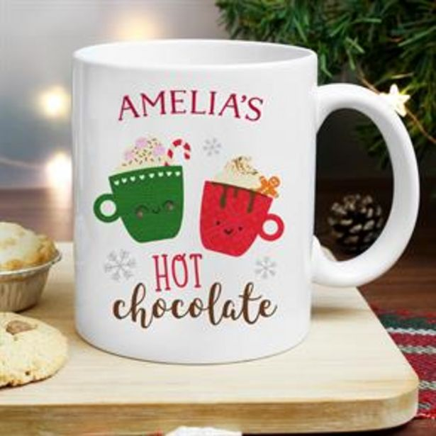 Personalised Cute Christmas Hot Chocolate Mug offer at £5.99