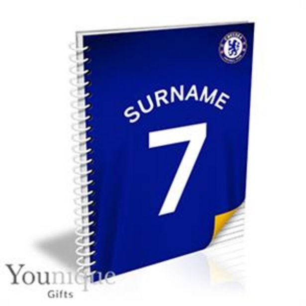 Personalised Chelsea FC A5 Notebook offer at £8.99