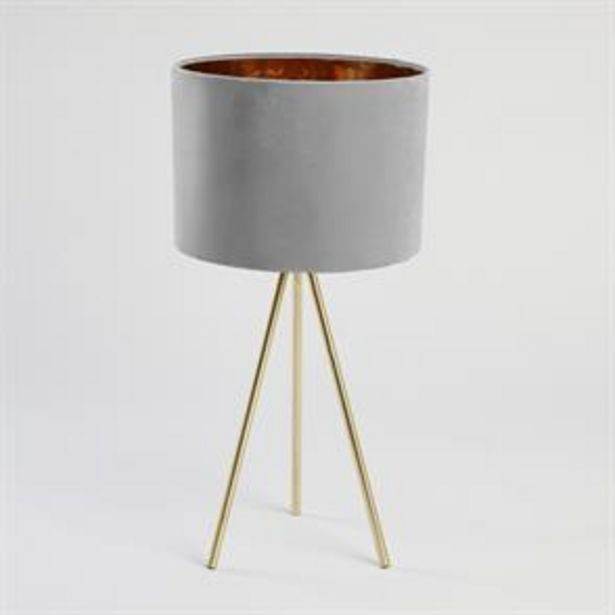 Home Collections Tripod Table Lamp - Grey offer at £18.99