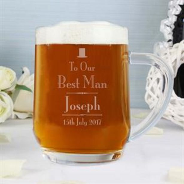 Personalised Decorative Wedding Best Man Tankard offer at £7.99