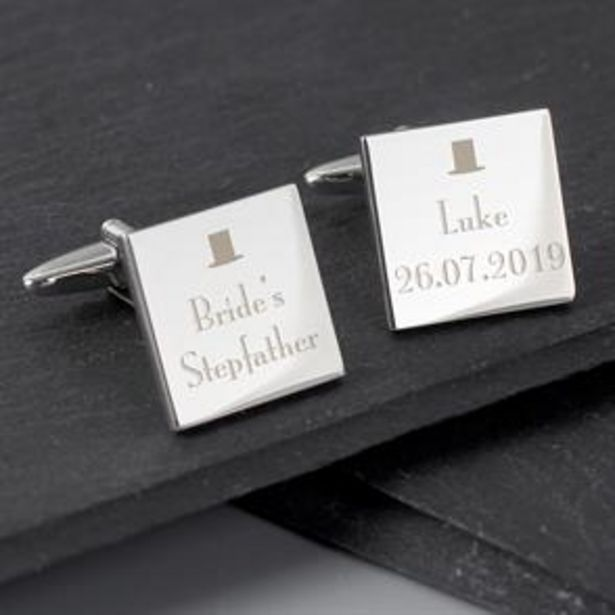 Personalised Wedding Square Cufflinks offer at £9.99