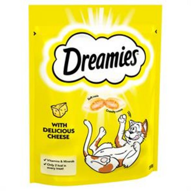 Dreamies Adult 1+ Cat Treats with Cheese Mega Pack 200g (6x) offer at £16.5