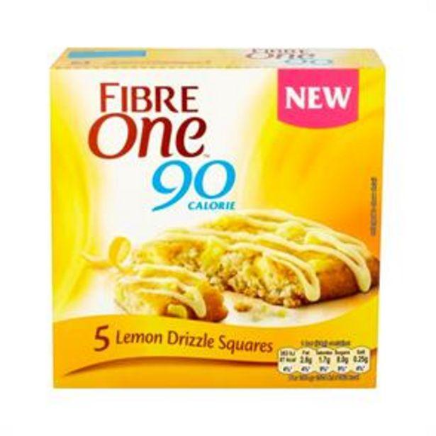 Fibre One 90 Calorie: 25 x Lemon Drizzle Squares offer at £6.25
