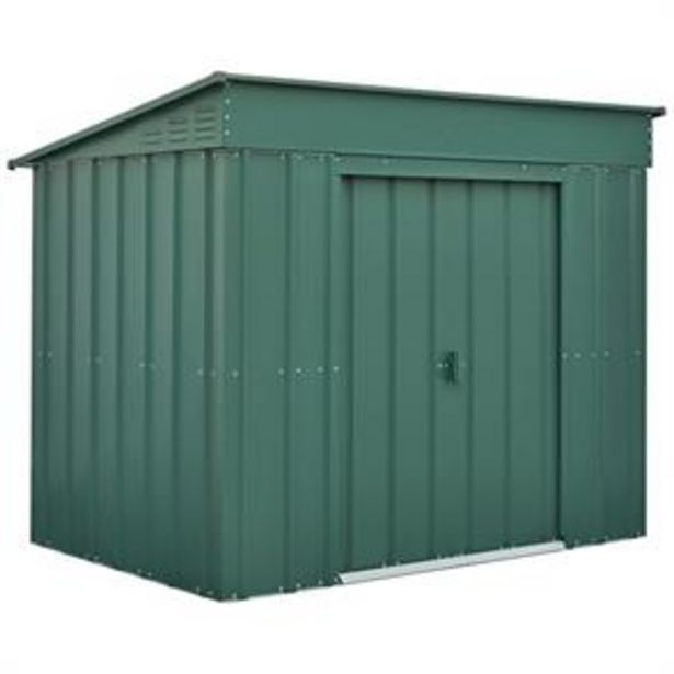Store More Lotus Metal Low Pent Roof Shed 6 x 4 offer at £219.99