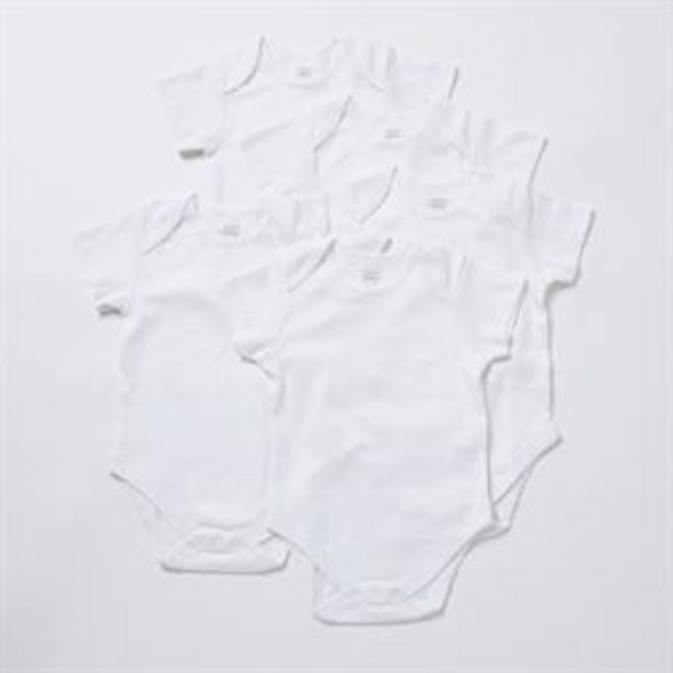 Pure Baby: Baby Body Suit 5 Pack - White offer at £4.5