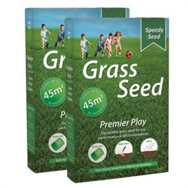 Speedy Seed: Premier Play Grass Seed Mega Value Pack 1.5kg offer at £5.99