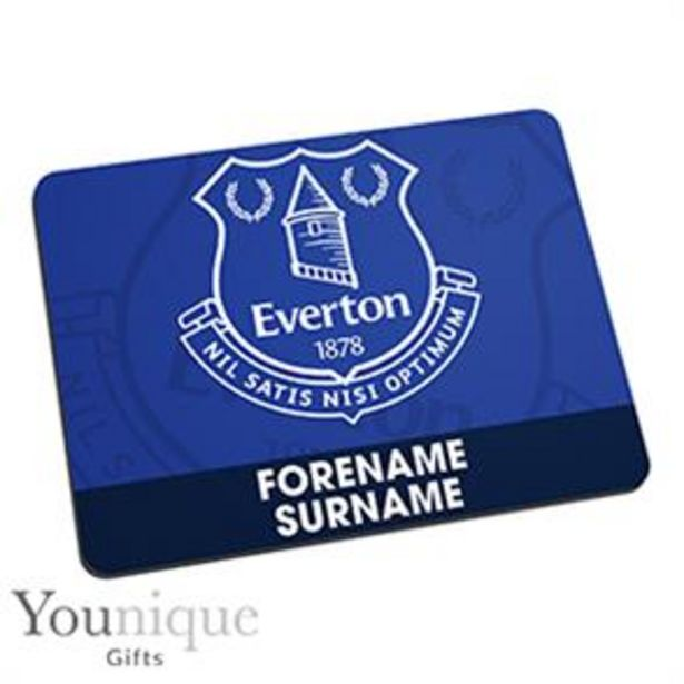 Personalised Everton FC Mouse Mat offer at £6.99