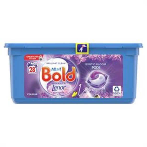 Bold All-in-1 Pods Washing Liquid Capsules Exotic Bloom 28 Washes offer at £5.49