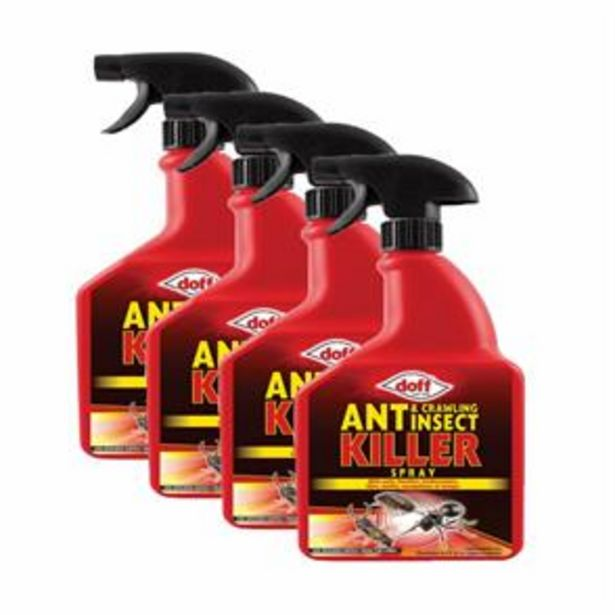 Ant & Crawling Insect Killer 1 Litre (4x) offer at £7.96