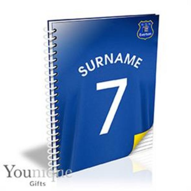 Personalised Everton FC A5 Notebook offer at £8.99