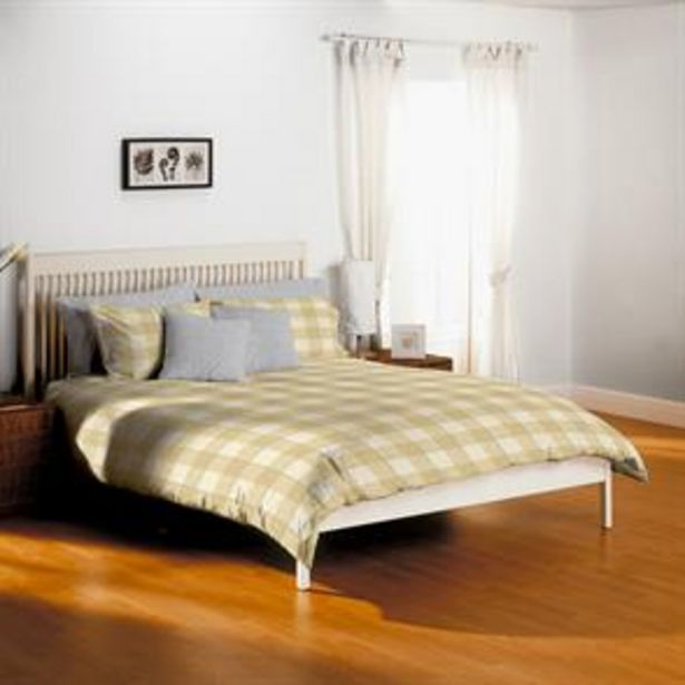 Home Collections: Check Non-Iron Duvet Set - Ochre offer at £10.99
