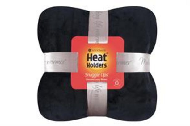 SockShop Heat Holders Oversized Luxury Fleece Blanket: Black offer at £17.99