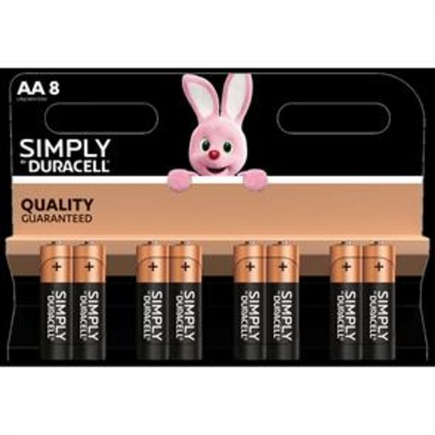 Duracell AA Batteries (8 Pack) offer at £2.99