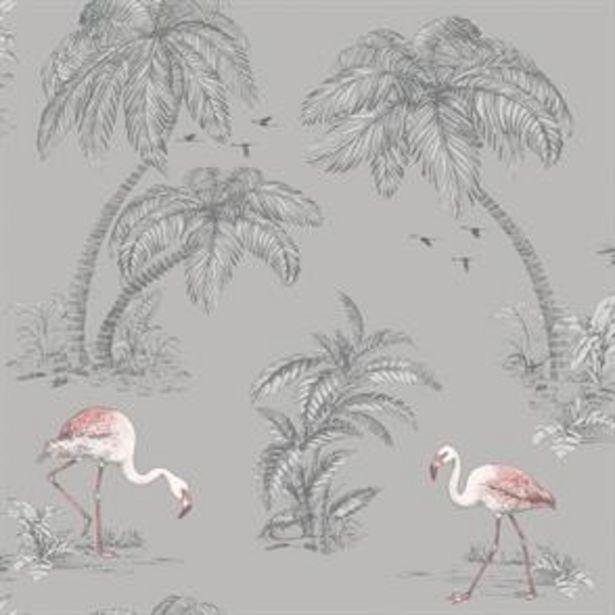 Flamingo Lake Grey Wallpaper offer at £11.99