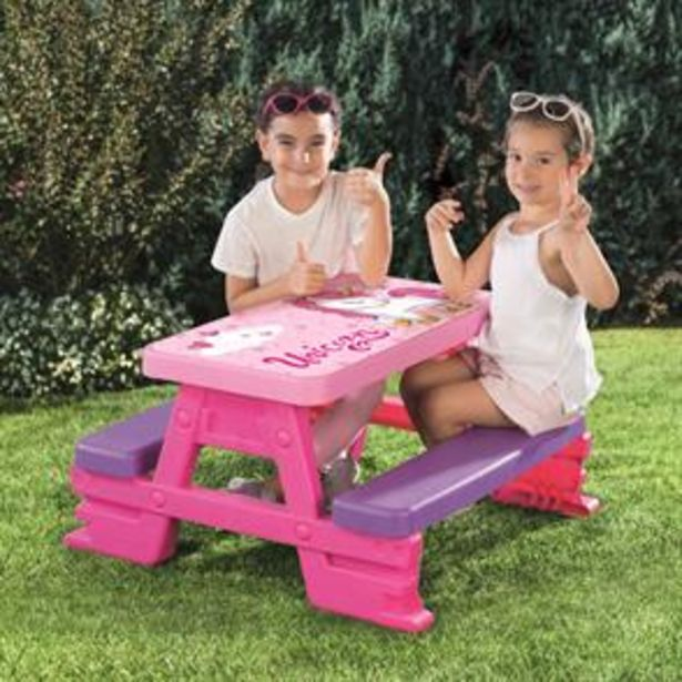 Dolu Unicorn Picnic Table for 4 offer at £24.99