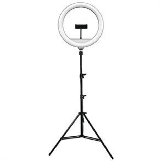 """13"""" LED Tri-Pod Social Media Ring Light with Phone Holder offer at £19.99"""