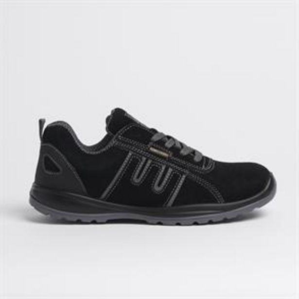 Groundwork Steel Toe Cap Safety Trainers Black offer at £17.99