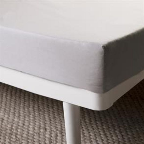 Home Collections Fitted Sheet - Silver offer at £4.49
