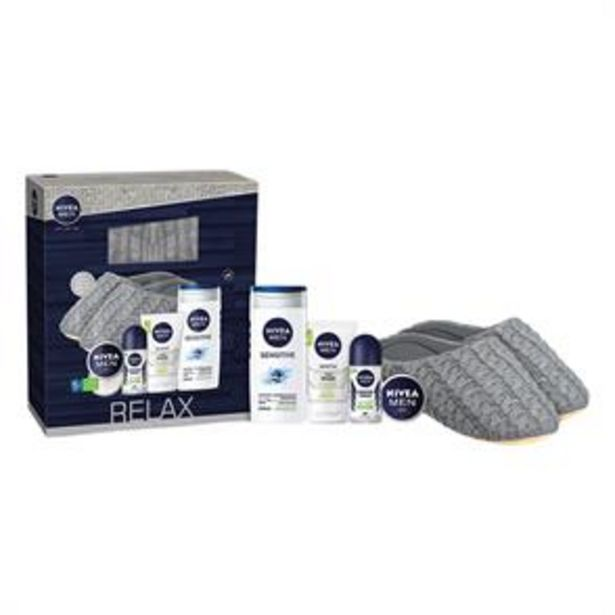 Nivea: Relax Slippers & Sensitive Collection Gift Set offer at £9.99
