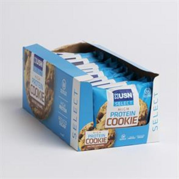 USN Select High Protein Cookie - Salted Caramel (12 x 60g) offer at £11.88