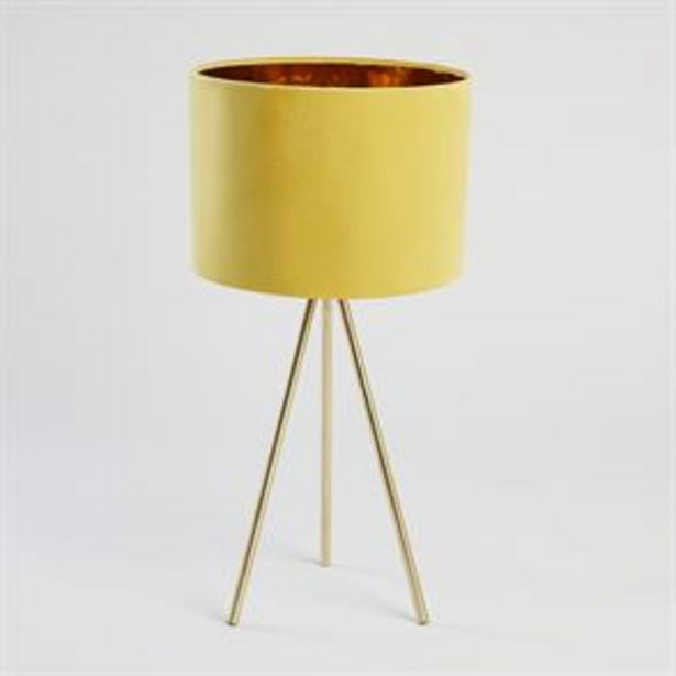 Home Collections Tripod Table Lamp - Yellow offer at £18.99