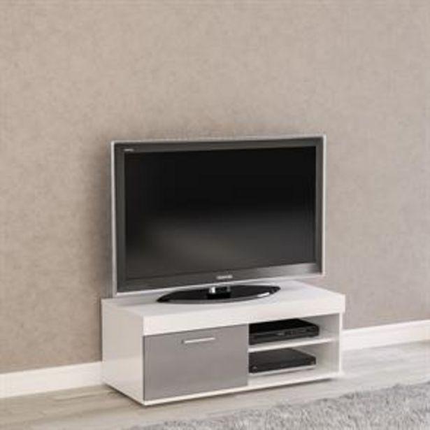 Birlea Edgeware Small TV Unit: White & Grey offer at £69.99