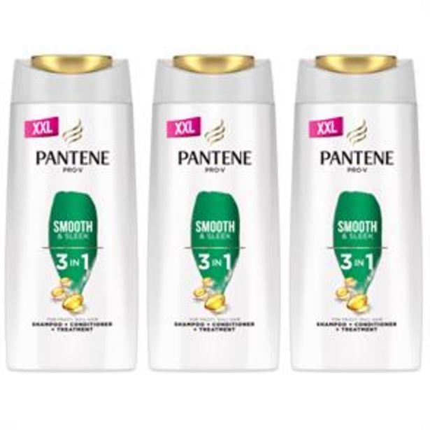 Pantene Pro-V Smooth & Sleek 3 In 1 Shampoo (3 x 700ml) offer at £10.47