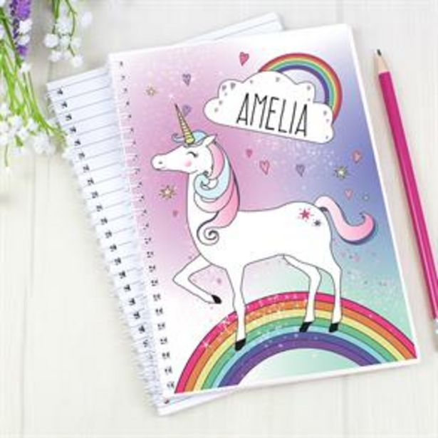 Personalised Unicorn Notebook offer at £3.99