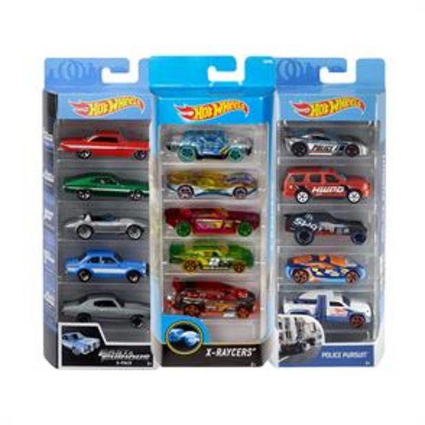 Hot Wheels 5 Pack Car Set offer at £6.99