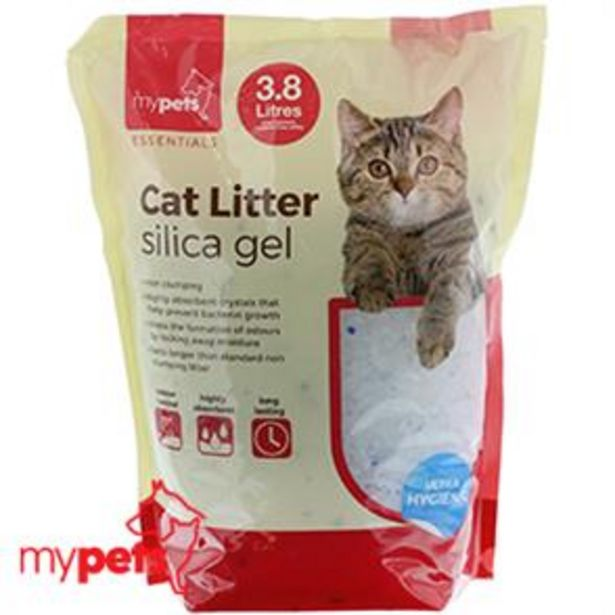 Silica Gel Cat Litter 3.8 Litre Bag offer at £2.49