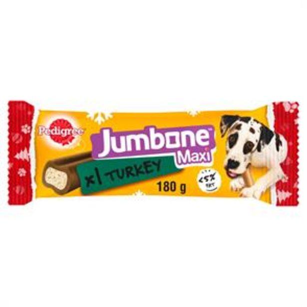 Pedigree Jumbone Maxi Turkey Flavour 180g (Case of 12) offer at £12