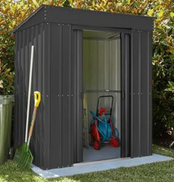 Store More Lotus Metal Pent Roof Shed 5 x 3 offer at £194.99