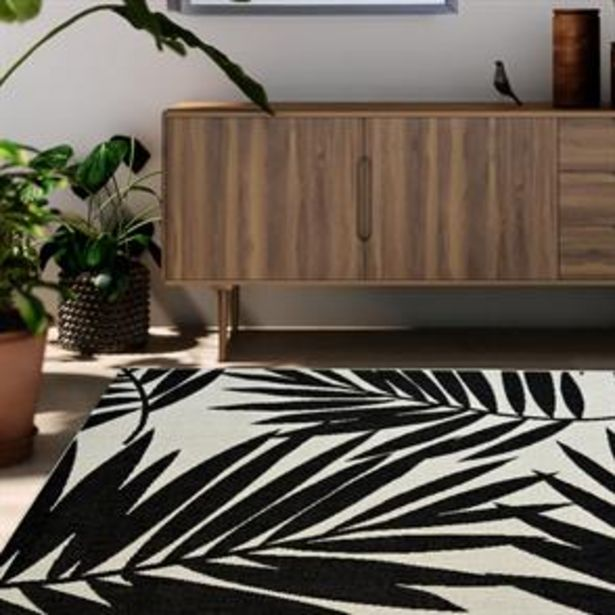 Mono Tropical Leaf Indoor/Outdoor Rug offer at £17.99