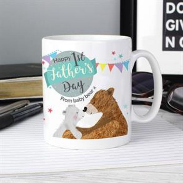 Personalised 1st Father's Day Daddy Bear Mug offer at £5.99