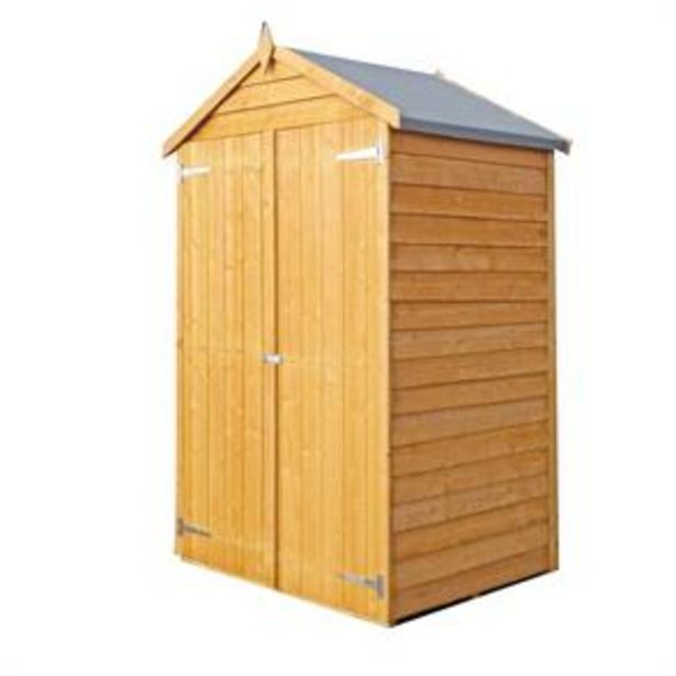 Shire 4x3 Overlap Double Door Shed offer at £199.99