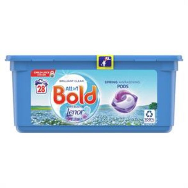 Bold All-in-1 Pods Washing Liquid Capsules Spring Awakening 28 Washes offer at £5.49