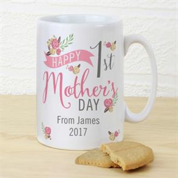 Personalised 1st Mother's Day Mug offer at £5.99