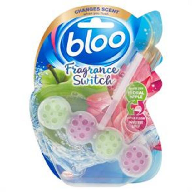 Bloo Fragrance Switch Floral Apple and Water Lily Rim Block (3 x 50g) offer at £4.47