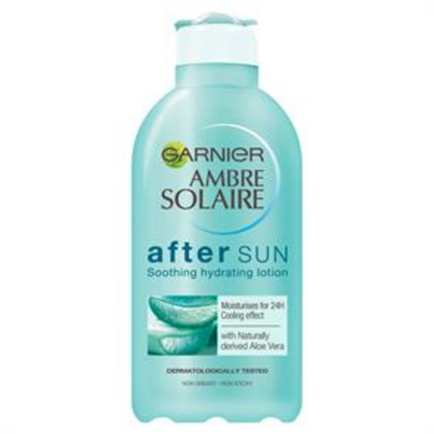 Ambre Solaire: Soothing Hydrating After Sun Lotion 200ml with Aloe Vera offer at £3.99