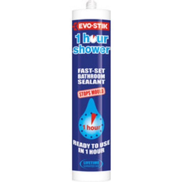 Evo-Stik Trade One Hour Sanitary Silicone                    290ml Clear offer at £5.51