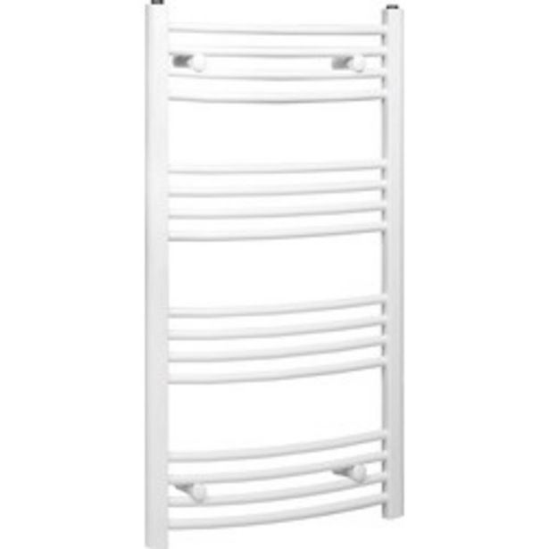 White Curved Towel Radiator                    1200 x 550mm 1856Btu offer at £29.99