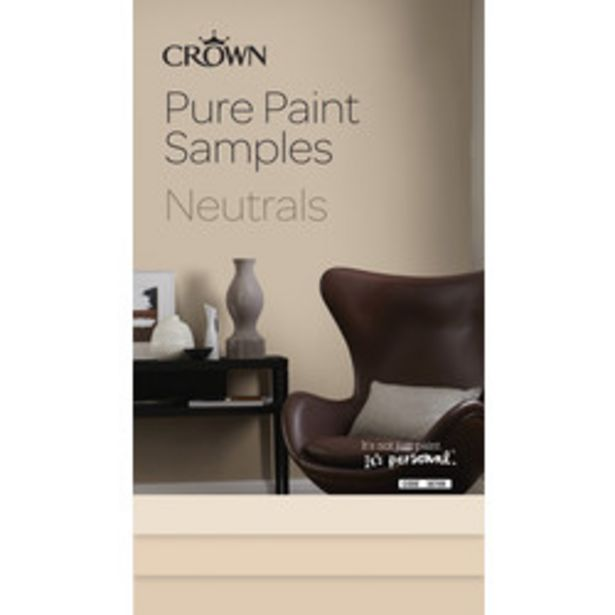 Crown Breatheasy Pure Paint Samples                    Neutrals offer at £1.59
