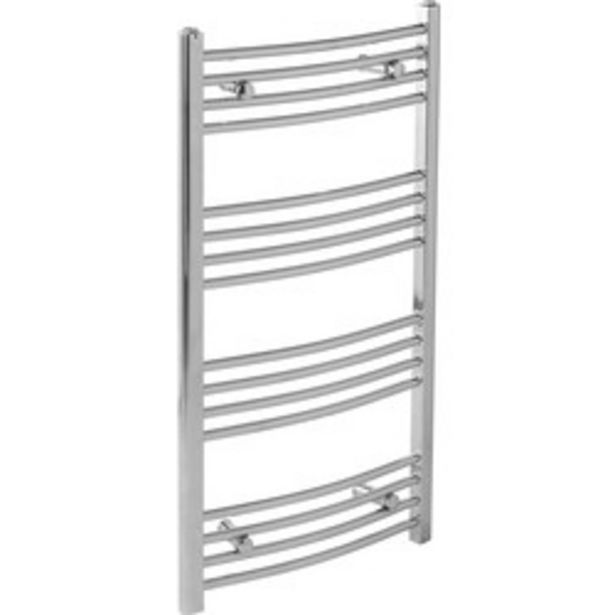 Chrome Curved Towel Radiator                    1200 x 550mm 1392Btu offer at £50