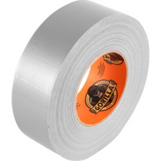 Gorilla Cloth Duct Tape                    Silver 48mm x 32m offer at £7